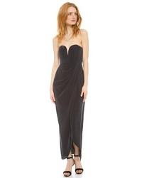 Женское черное шелковое вечернее платье от Zimmermann