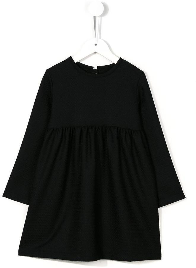 Детское черное шерстяное платье для девочек