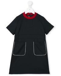Детское черное шерстяное платье для девочке от Marni