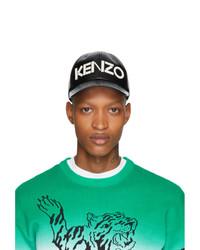 Мужская черно-белая бейсболка с принтом от Kenzo