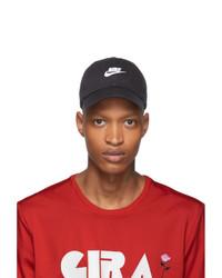 Мужская черно-белая бейсболка с принтом от Nike