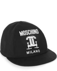 Женская черно-белая бейсболка от Moschino