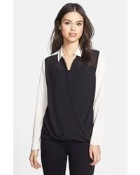 черно белая блуза на пуговицах original 4300491