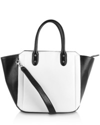 Женская черно-белая кожаная сумка-саквояж от Ivanka Trump
