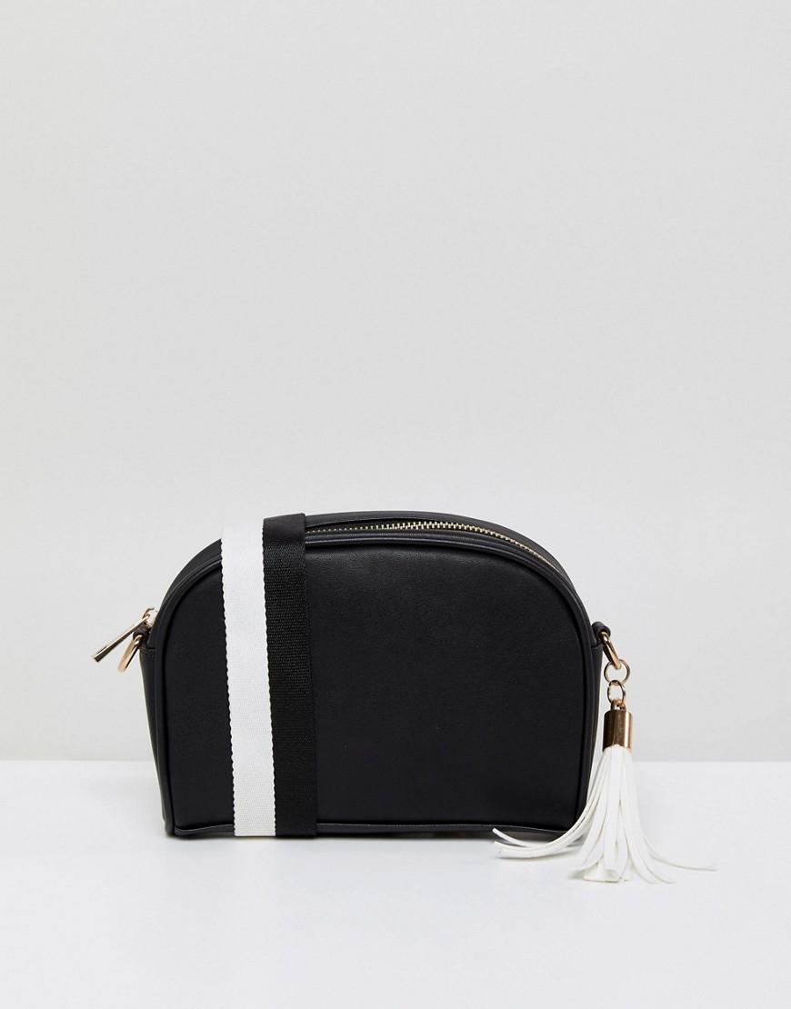 5044006defed Черно-белая кожаная сумка через плечо от London Rebel, 1 424 руб ...
