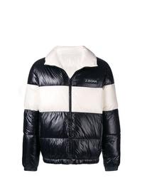 Мужская черно-белая куртка-пуховик от Z Zegna