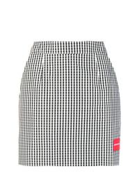 Черно-белая мини-юбка в мелкую клетку от Ck Jeans