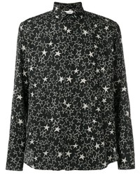 Черно-белая рубашка с длинным рукавом со звездами