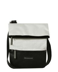Черно-белая сумка через плечо из плотной ткани