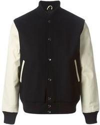 Черно-белая университетская куртка