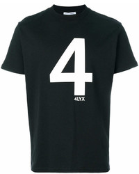 Женская черно-белая футболка с круглым вырезом с принтом