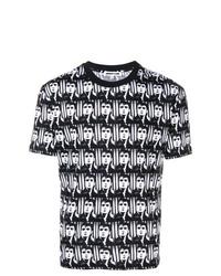 Мужская черно-белая футболка с круглым вырезом с принтом от McQ Alexander McQueen