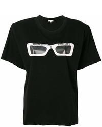 Женская черно-белая футболка с круглым вырезом с принтом от Natasha Zinko