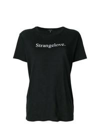 Женская черно-белая футболка с круглым вырезом с принтом от R13