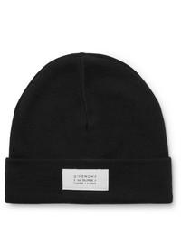 Мужская черно-белая шапка с принтом от Givenchy