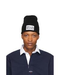 Мужская черно-белая шапка с принтом от Noah NYC