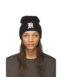 Мужская черно-белая шапка с принтом от R13