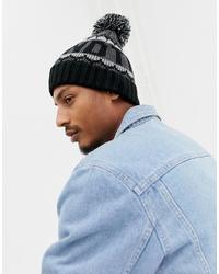 Мужская черно-белая шапка от Timberland