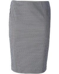 399b5a8a91f ... Черно-белая юбка-карандаш с геометрическим рисунком от Armani Jeans