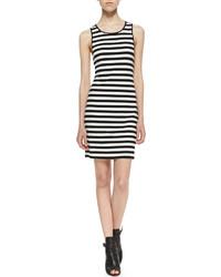 Черно-белое платье-майка