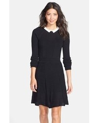 черно белое платье с плиссированной юбкой original 4565305