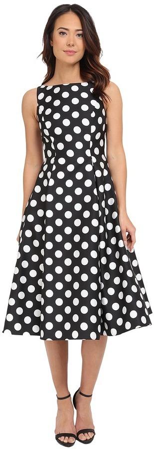 Черно-белое платье с пышной  купить