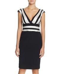 Черно-белое платье-футляр