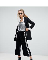 Черно-белые брюки-кюлоты от Dr. Denim