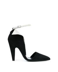 Черно-белые замшевые туфли