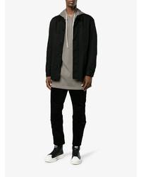 Мужские черно-белые кожаные высокие кеды от Adidas By Rick Owens