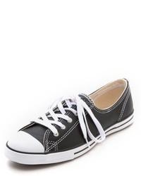 Черно-белые кожаные низкие кеды