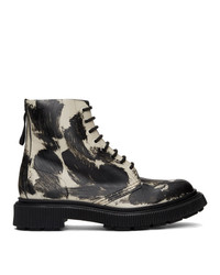 Мужские черно-белые кожаные повседневные ботинки от Études