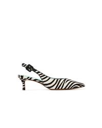 Черно-белые кожаные туфли с принтом от Blue Bird Shoes