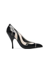 Черно-белые кожаные туфли с принтом от Bottega Veneta