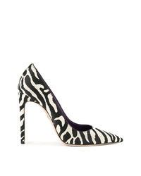 Черно-белые кожаные туфли с принтом от Dsquared2