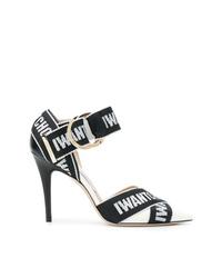 Черно-белые кожаные туфли с принтом от Jimmy Choo