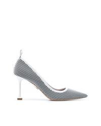Черно-белые кожаные туфли с принтом от Miu Miu