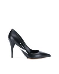 Черно-белые кожаные туфли с принтом от Valentino