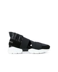 Женские черно-белые кроссовки от Emilio Pucci