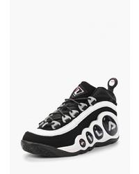 Мужские черно-белые кроссовки от Fila