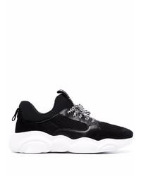 Мужские черно-белые кроссовки от Moschino