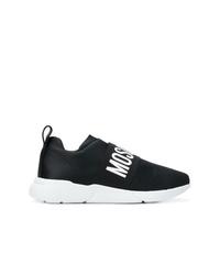 Женские черно-белые кроссовки от Moschino
