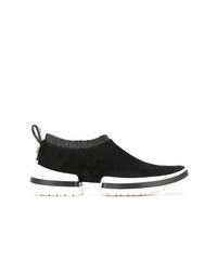 Женские черно-белые кроссовки от Stuart Weitzman
