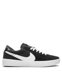 Мужские черно-белые низкие кеды из плотной ткани от Nike