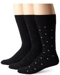 Черно-белые носки в горошек