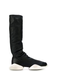 Мужские черно-белые сапоги до колена от Adidas By Rick Owens