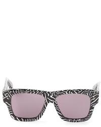 Женские черно-белые солнцезащитные очки с принтом от Dita Eyewear