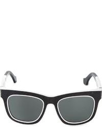 Женские черно-белые солнцезащитные очки от Balenciaga