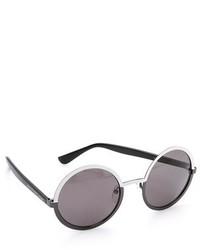 Женские черно-белые солнцезащитные очки от Marc by Marc Jacobs