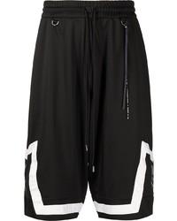 Мужские черно-белые спортивные шорты с принтом от Mastermind World